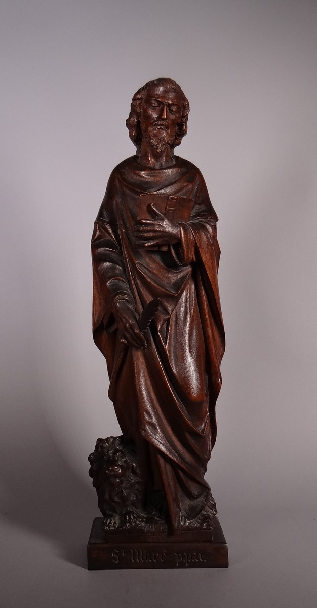 Oak sculpture - St Marc - anonymous 19C