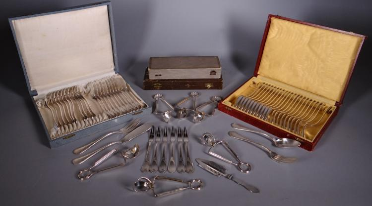 Silverware: silver metal Lot