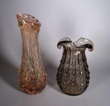 Glassware Murano glass vase with inclusions and glass Vase