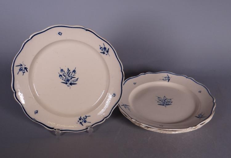 Ceramics: 4 plates in Andenne earthenware period Verdussen Wouters