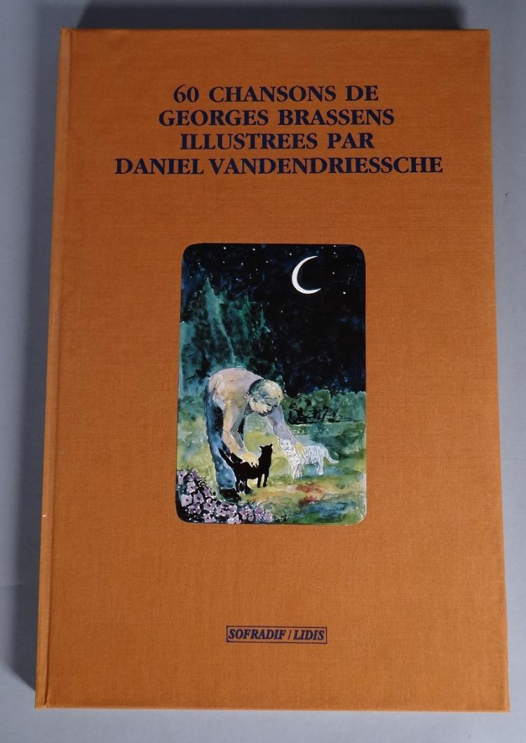 Book - 60 songs of Georges Brassens in french - illustrated by Daniel VANDENDRIESSCHE