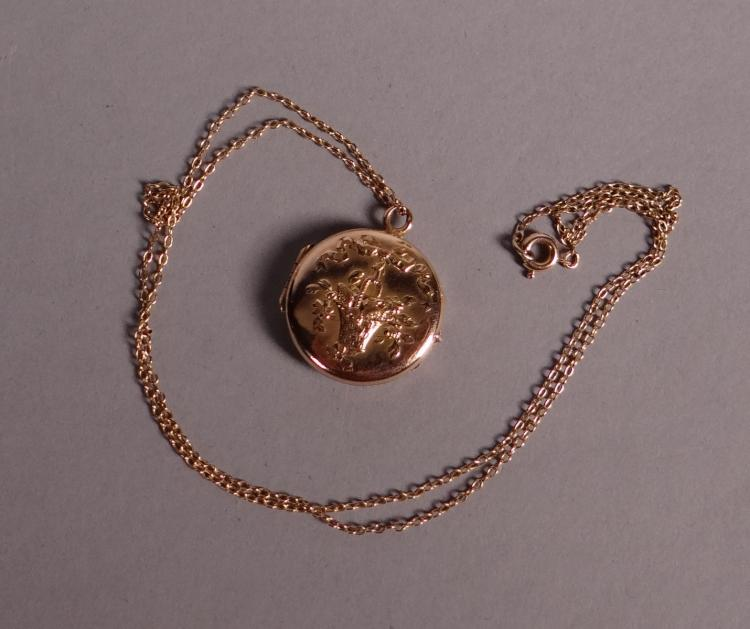 Jewel: pendant (picture frame) in yellow gold 14k with 14k yellow gold chain