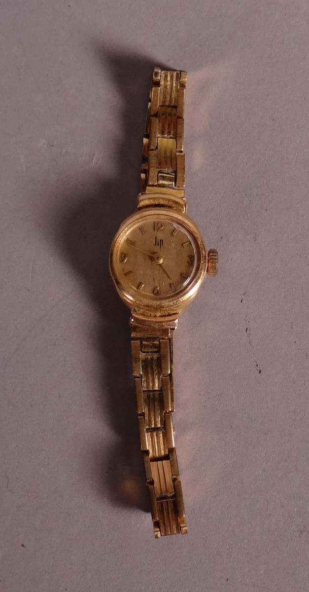 Bijou: lady's watch LIP 18k yellow gold case