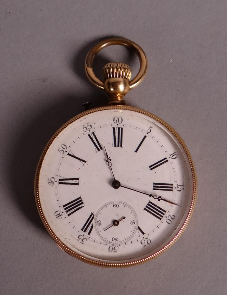 Clocks: Pocket watch chronometer in 18K yellow gold