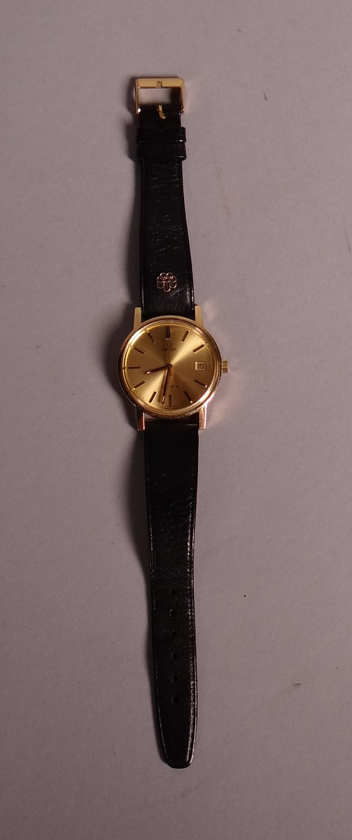 Clocks: Man's Watch OMEGA steel bracelet background