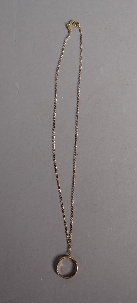 Jewelry: 18K Yellow Gold Chain and alliance in 18K yellow gold
