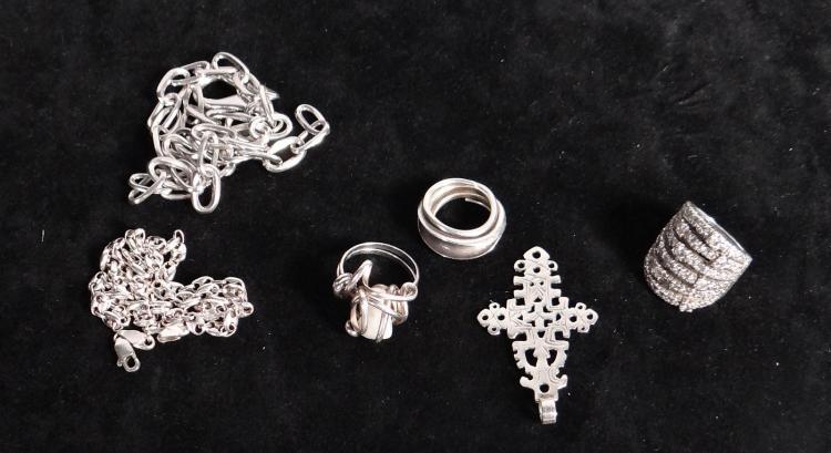 Silver jewelry set of 6 Jewelry