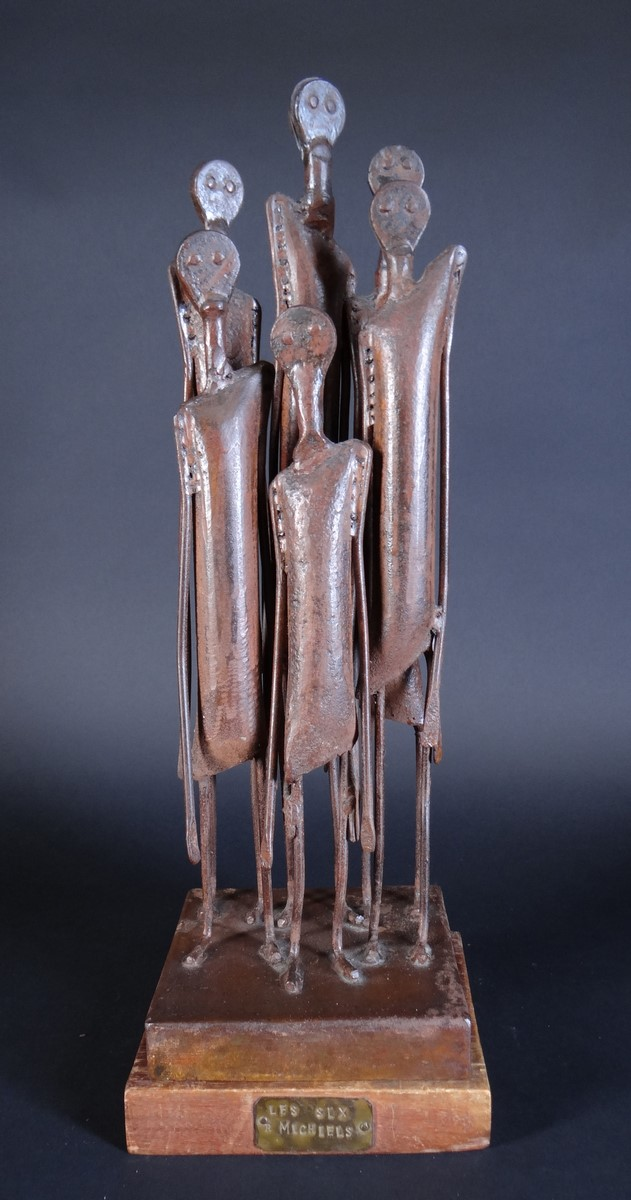 Sculpture: Metal - The Six Michiels - signed MICHIELS Robert