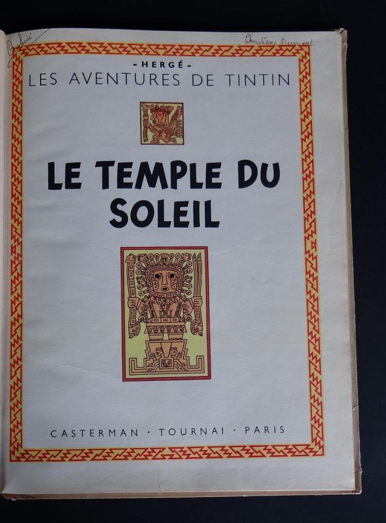 bd les aventures de tintin herg 233 casterman le temple