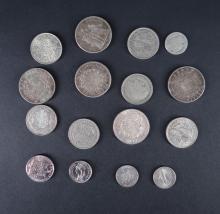 Collection: Coins silver + various