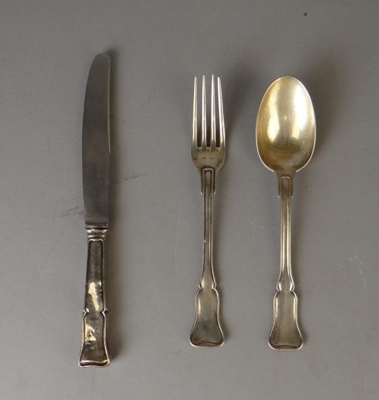 Argenterie couteau fourchette cuill re de table en arg - Couteau de table ...