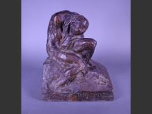 Sculpture: Bronze patina brown - DISFACIMENTO - signed NICOLINI Giovanni