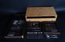 Silverware : Cutlery set in silver WISKEMANN A835 Perle model