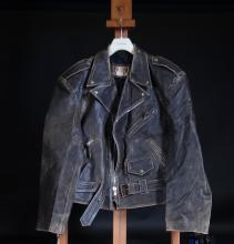 Fashion: Johnny Hallyday leather jacket - Western passion - size XL