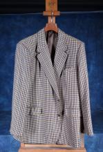 Fashion: Scabal Checked Men's Jacket + Canali Italy Cashmere Blue Men's Coat