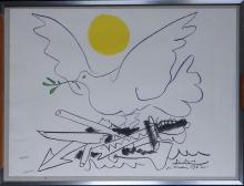 Engraving: Litho color - Great Dove of Peace - from PICASSO Pablo