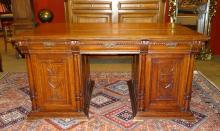 furniture : desk double side Néo-Renaissance late 19th C