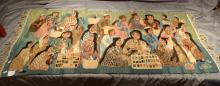 Carpet: Egyptian tapestry - Animated Market - Wissa Wassef Attribute to Garya Mahmoud