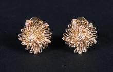 Jewel : Pair of 18K yellow gold earrings said clips