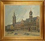 TONDREAU P. - Tableau HST -Grand Place de Mons-