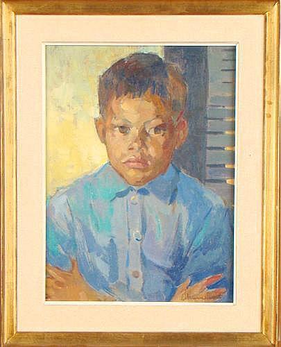 CHAVEPEYER A. - Tableau HST -Portrait:Sidney De