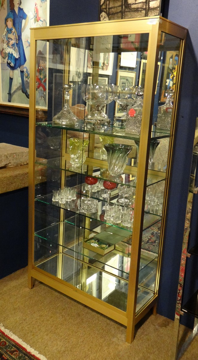 Furniture Vintage Design Showcase In Gilded Metal