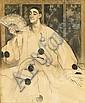 NAVEZ A. - Pastel -Pierrot à l'eventail- signé et, Arthur Navez, Click for value