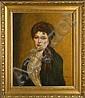 AGNEESSENS E. - Tableau HST réentoillé -Portrait, Edouard Agneesens, Click for value