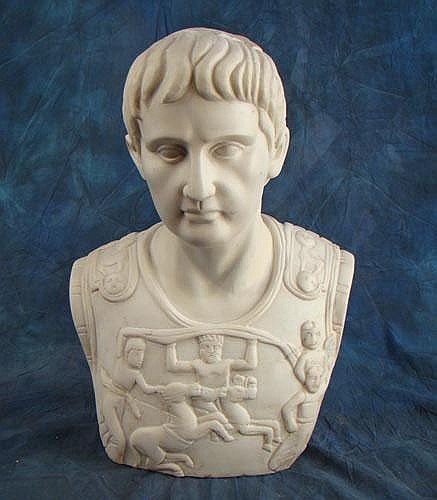 KISS A. - Sculpture en marbre -Buste d'empereur