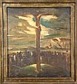GILLIS M. - Tableau HST -Crucifixion- daté 1931, Marcel Gillis, Click for value