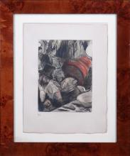 Engraving: Color Etching - The Cardinal XXIV Family - after DEGAS Edgar