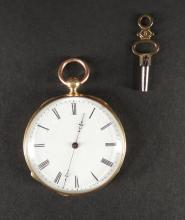 Watchmacking: 18K Yellow Gold Double Bowl Pocket Watch (work)