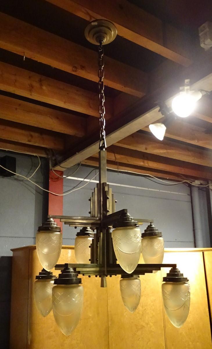 luminaire chandelier art d co about 1930. Black Bedroom Furniture Sets. Home Design Ideas