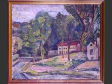 painting oil on canvas - landscape - 1946 n°116 signed verso VAN ANDERLECHT Englebert