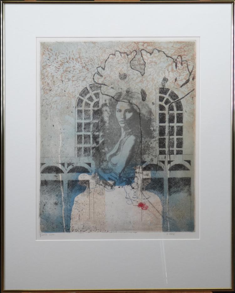 Engraving: Color Etching - Gioconda - No 12/50 by GOEZU André