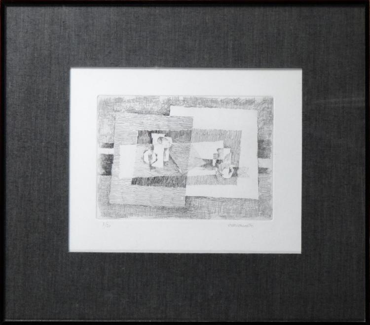Engraving: Etching - Untitled - No 3/20 signed VAGNETTI Vieri