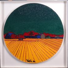 painting oil on panel laid down - Midi on the fields - signed VOSCH Marc