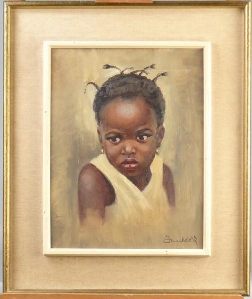 tableau hst enfant africain sign mulders jean 1912 4. Black Bedroom Furniture Sets. Home Design Ideas