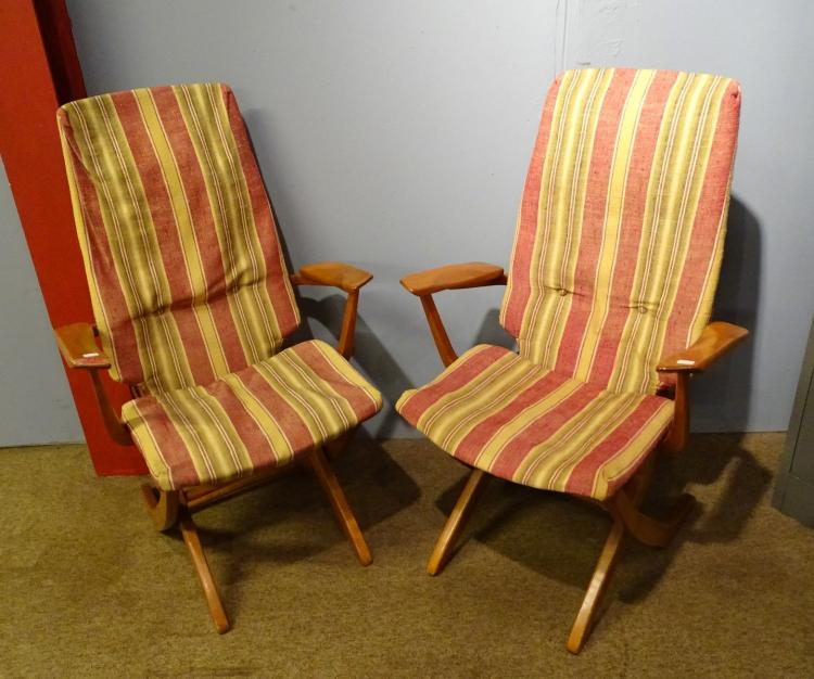 Furniture vintage pair of adjustable scandinavian armchairs for Furniture 4 a lot less