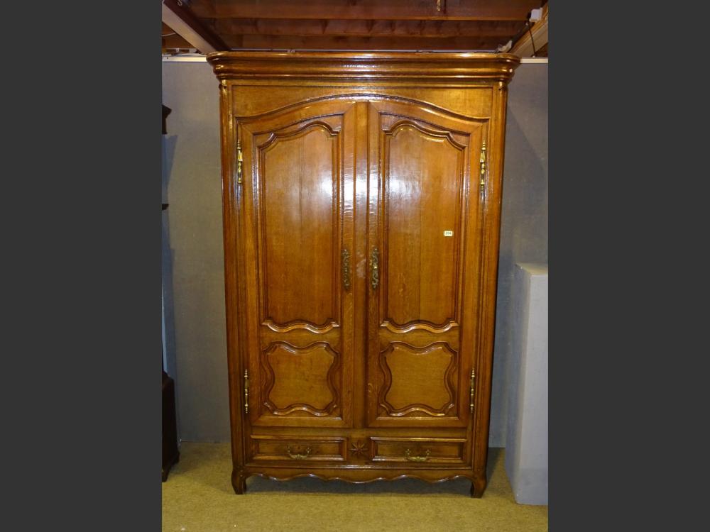 Furniture: Louis XV wardrobe in oak 18th C.
