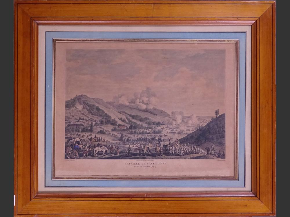 Engraving: Etching watercolor - Battle of Castiglione / Napoleonic - after VERNET Carle