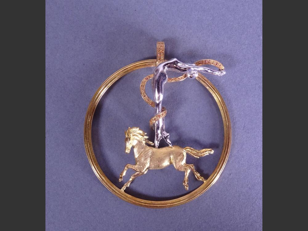 Jewel: Pendant - Amazon - circus series by CHRISTIGUEY for GUERIT Christine