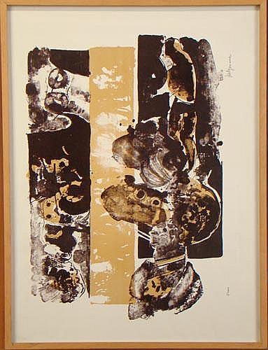 BELGEONNE G. - Litho couleurs -Composition- signé