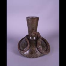 Ceramics: Sandstone vase signed PERROT Theo