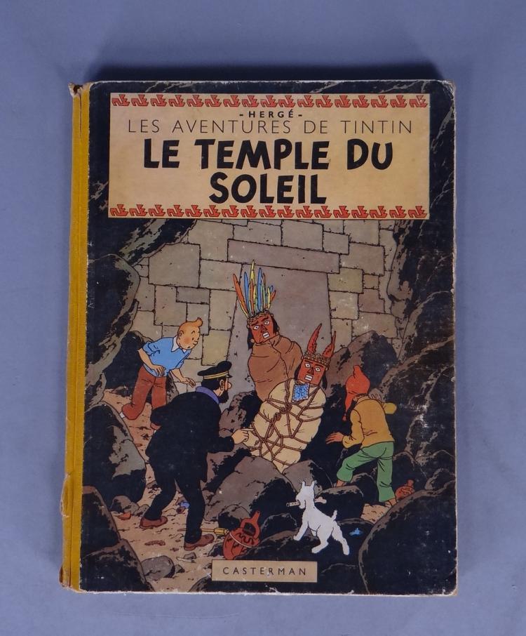 bd les aventures de tintin herg 233 le temple du soleil b