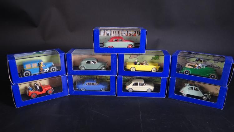 Toy Miniature Cars Tintin En Voiture Editions Atlas In