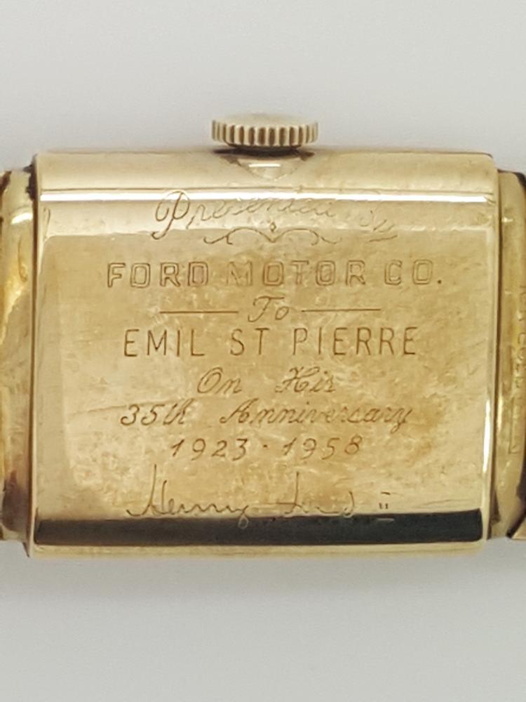 A signed lord elgin 10k gold filled vintage men 39 s watch sign for Ford motor company 10k 2016