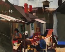 Vilmos Aba-Novak, 1894-1941, Figures in the Village, 1934