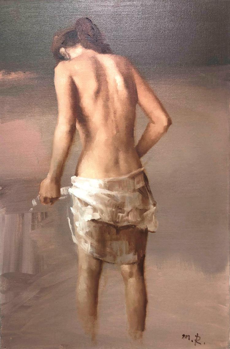 Misha Rapoport, b. 1948, Getting Dressed