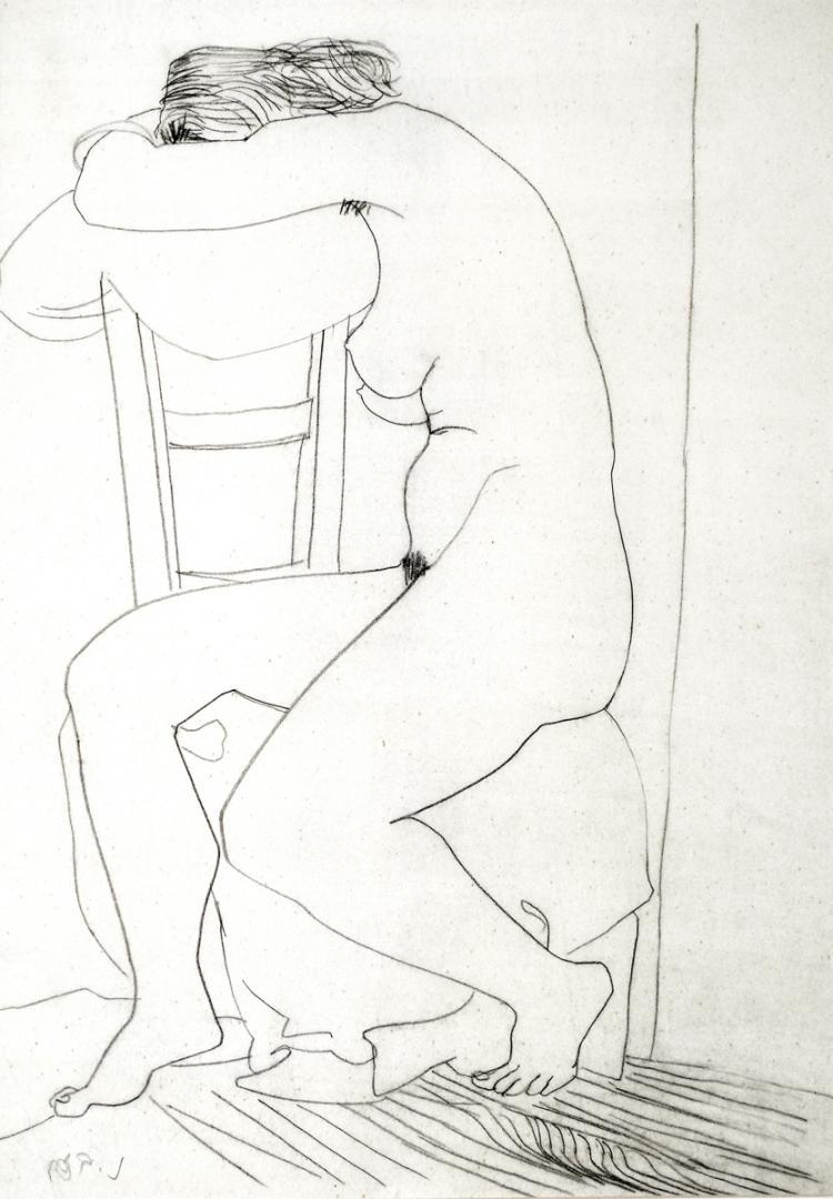 Naftali Bezem, b. 1924, Nude